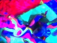 Vidéo porno mobile : Lesbian art is colourful